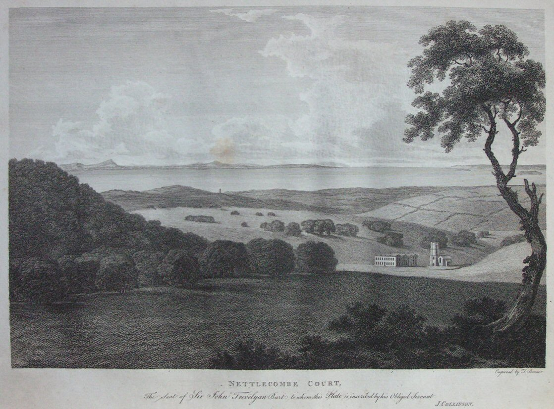 Print - Nettlecombe Court. The Seat of Sir John Trevelyan Bart. - Bonnor