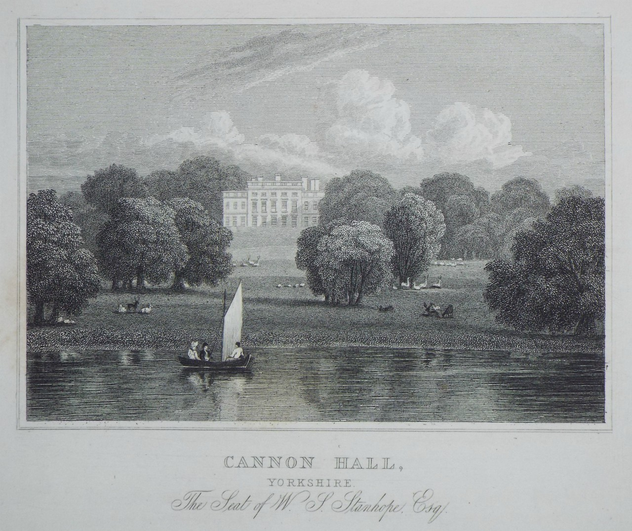 Print - Cannon Hall, Yorkshire. The Seat of W. S. Stanhope, Esq.  - Hay