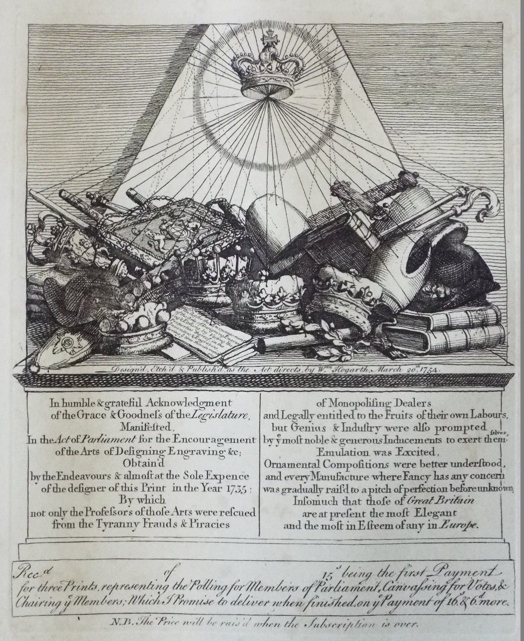 Print - Receipt for Polling prints - Hogarth