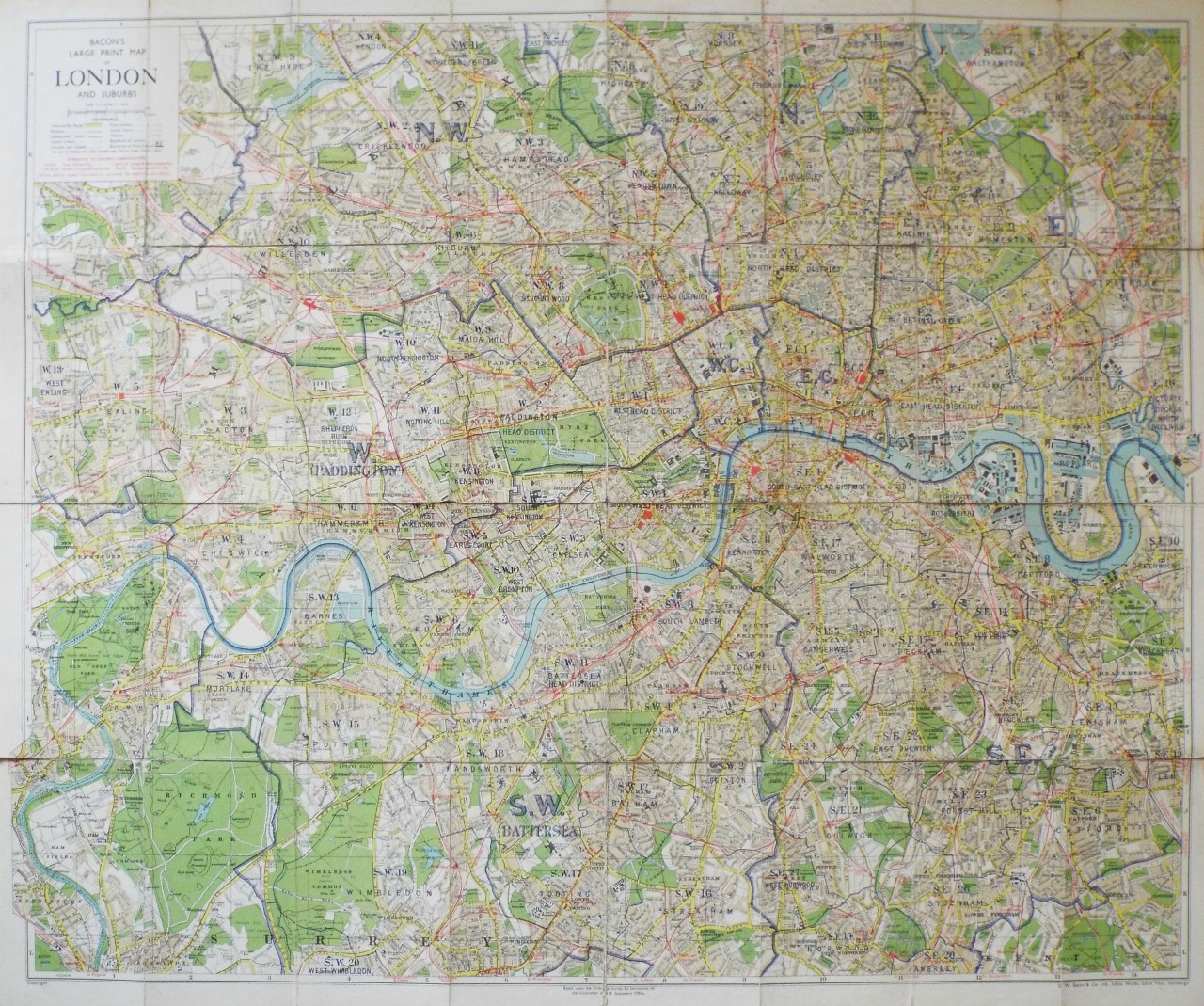 Map Of Central London To Print.Antique Map Of Central London