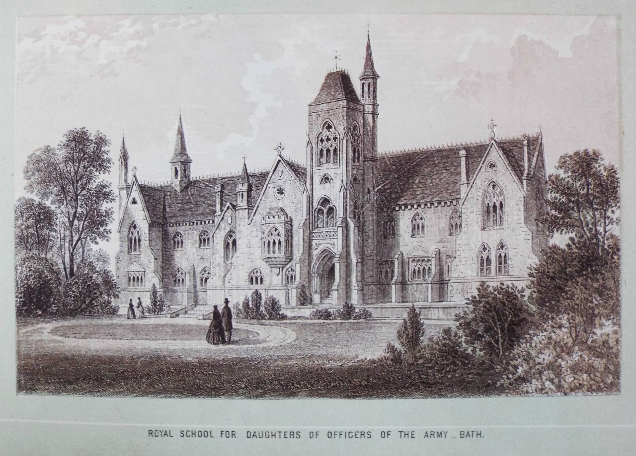 Chromo-lithograph - Royal School for Daughters of Officers of the Army _ Bath. - T