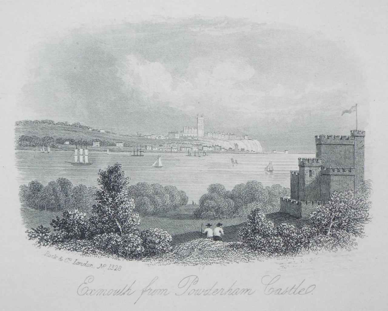 Steel Vignette - Exmouth from Powderham Castle. - Rock