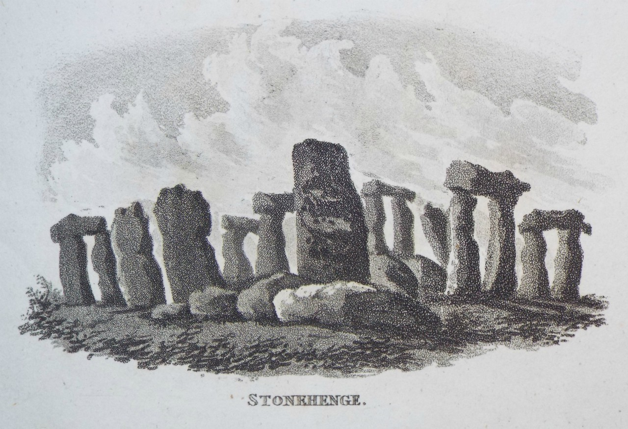 Aquatint - Stonehenge. - Hassell