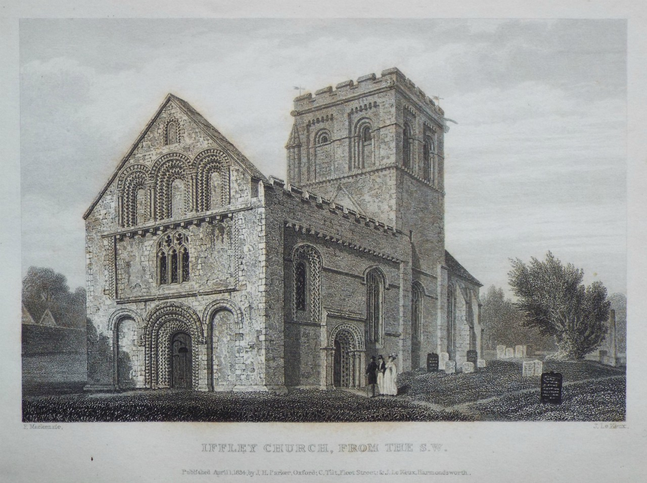 Print - Iffley Church, from the S.W. - Le