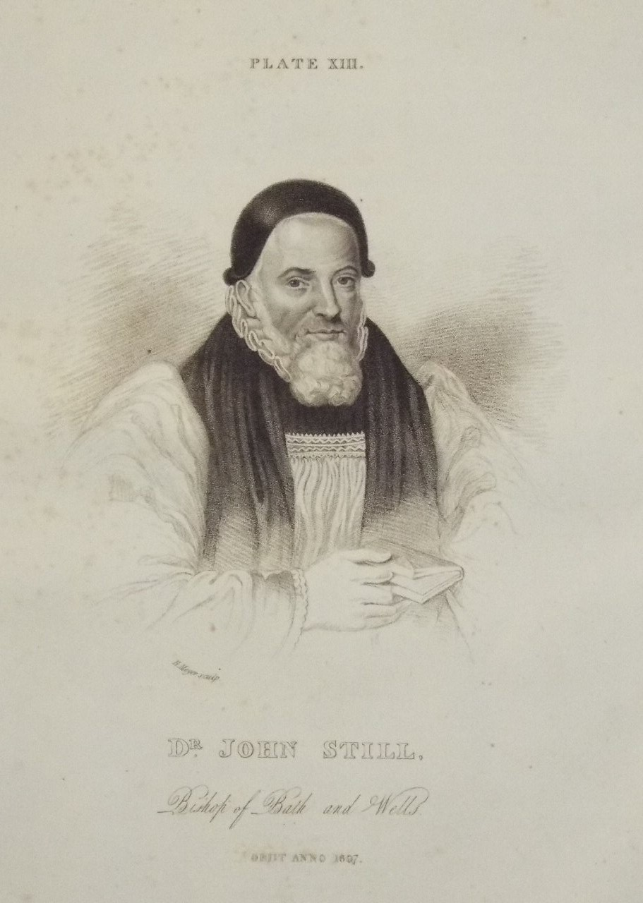 Print - Dr. John Still. Bishop of Bath and Wells Obiit AD 1687