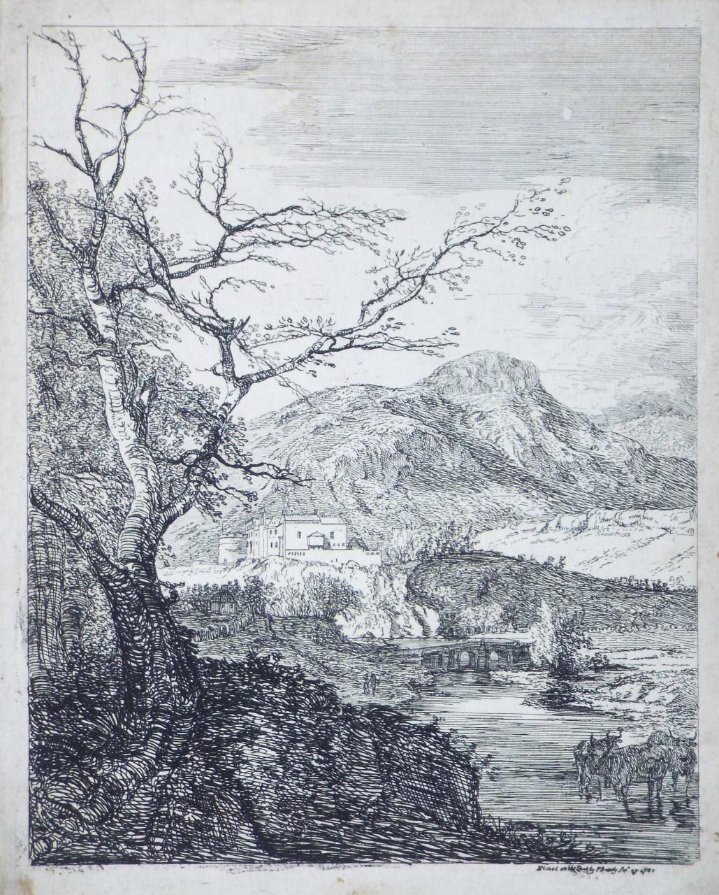 Etching - Capriccio with Edinburgh Castle and Arthur's Seat - Sandby