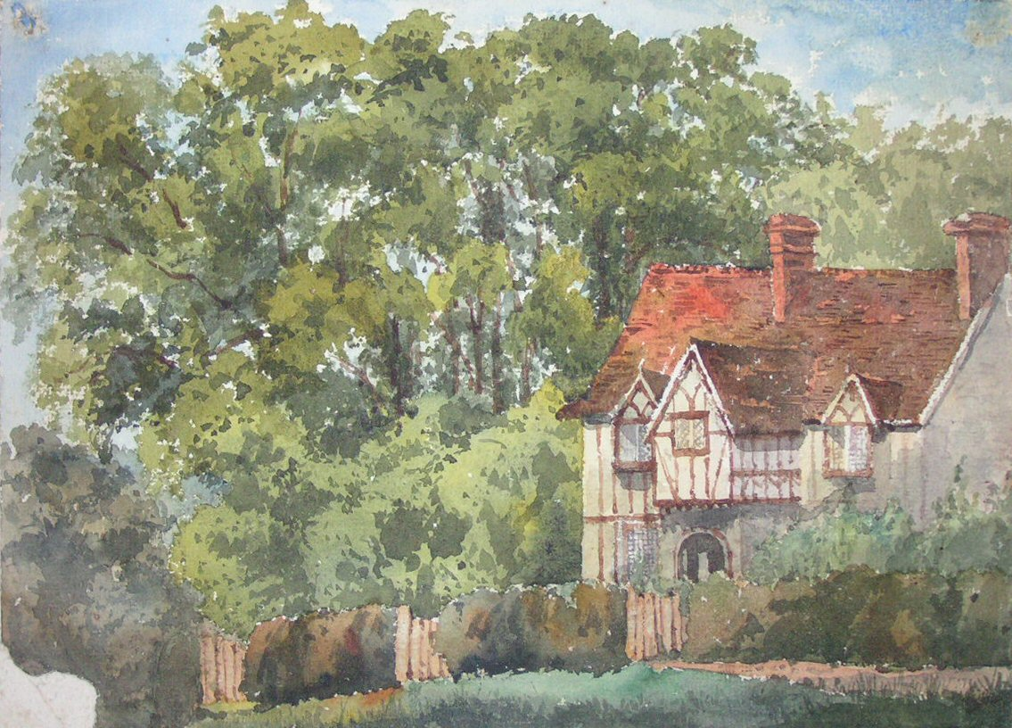 Watercolour - Chenies Half-timbered Cottage