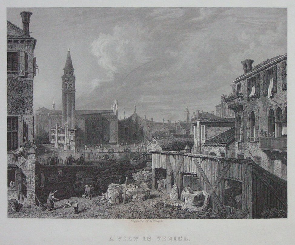 Print - A View in Venice from the original picture by Canaletto, in the National Gallery - Challis