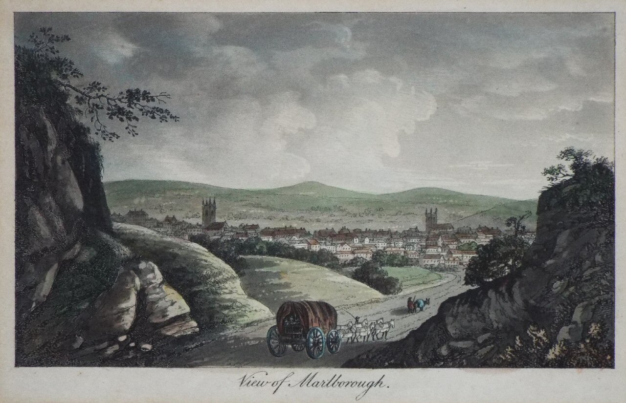 Aquatint - View of Marlborough - Robertson