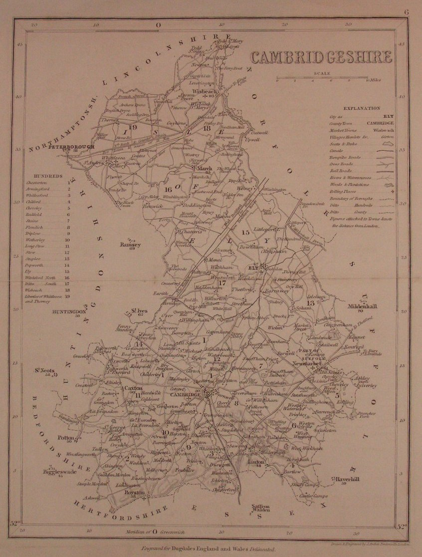 Map of Cambridgeshire - Archer