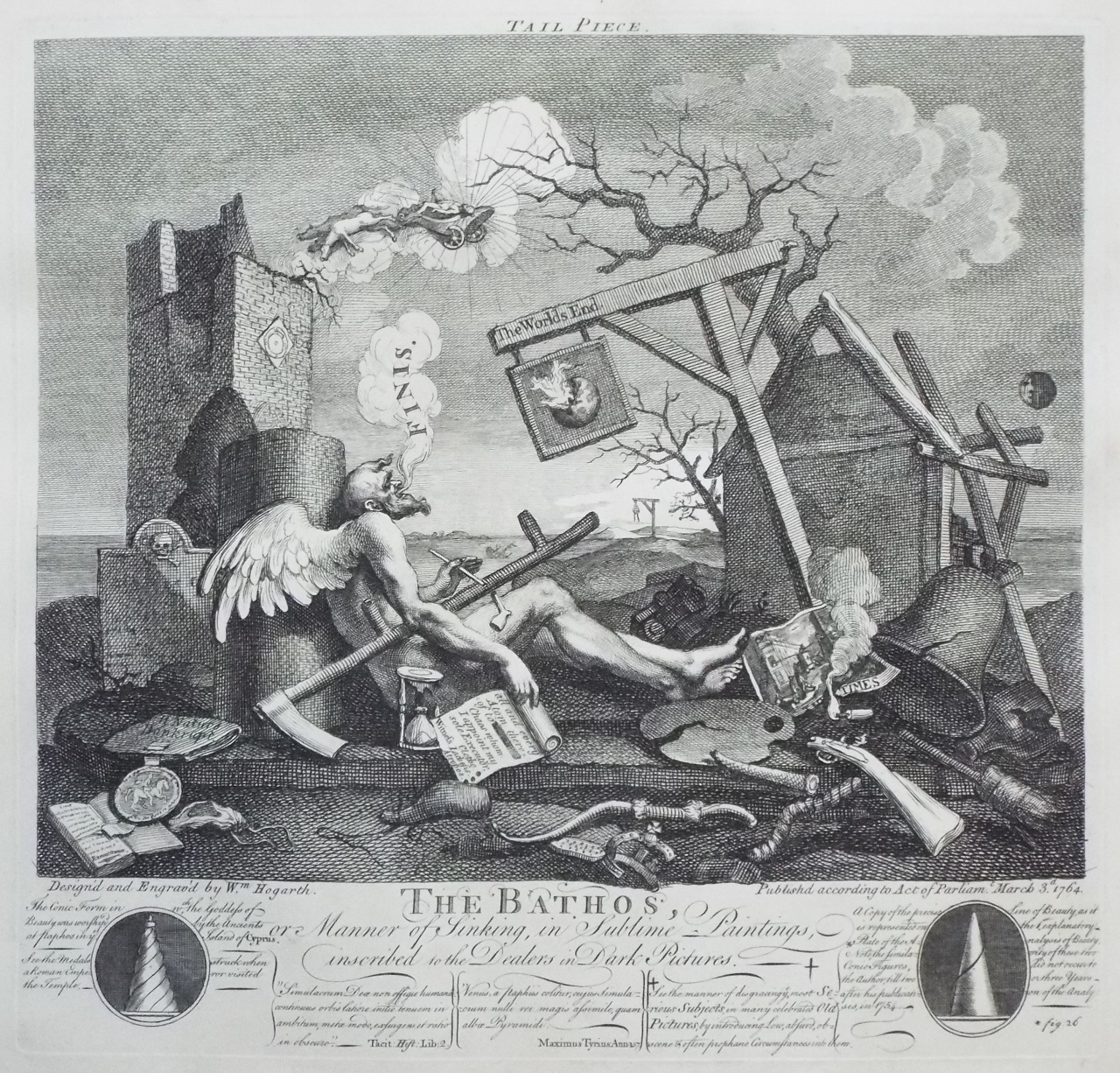 Print - Finis The Bathos - Hogarth
