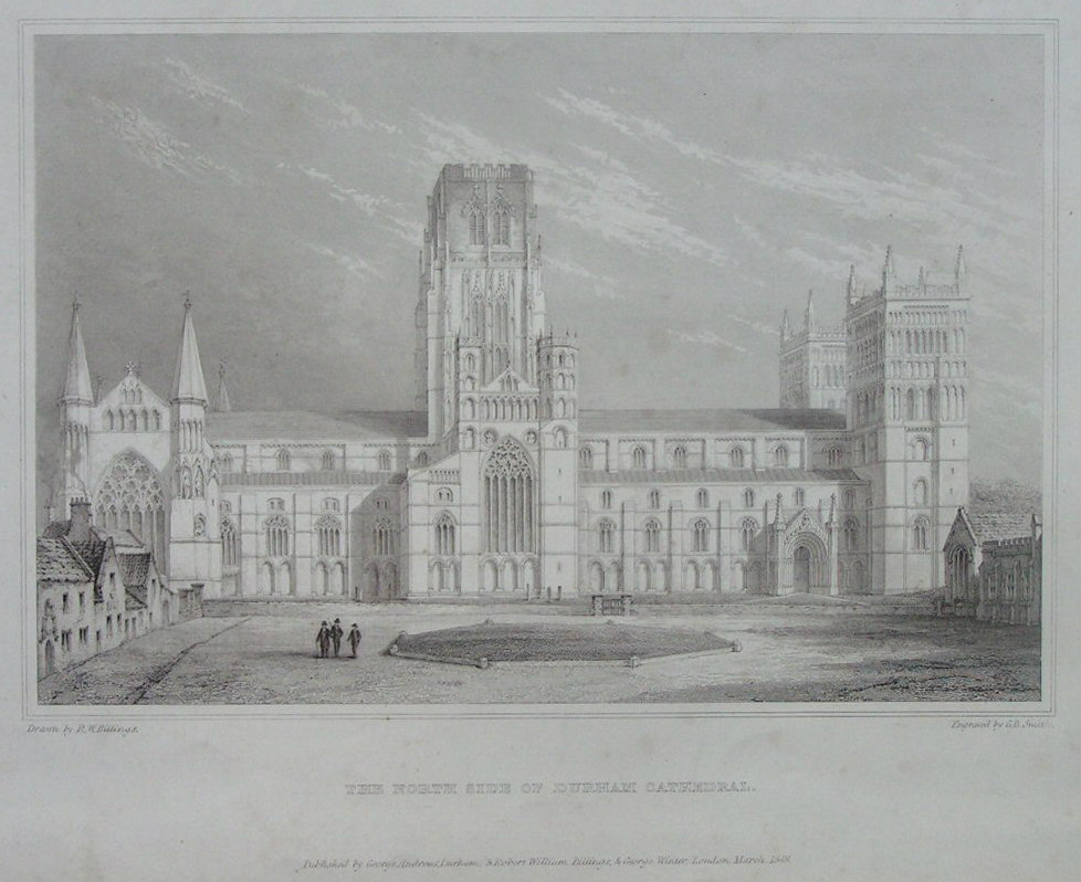 Print - The North Front of Durham Cathedral - Smith