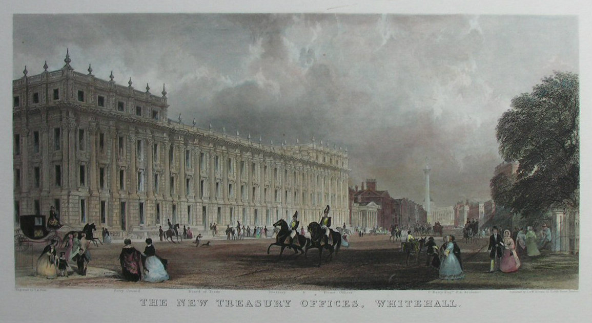 Print - The New Treasury Offices, Whitehall - Prior