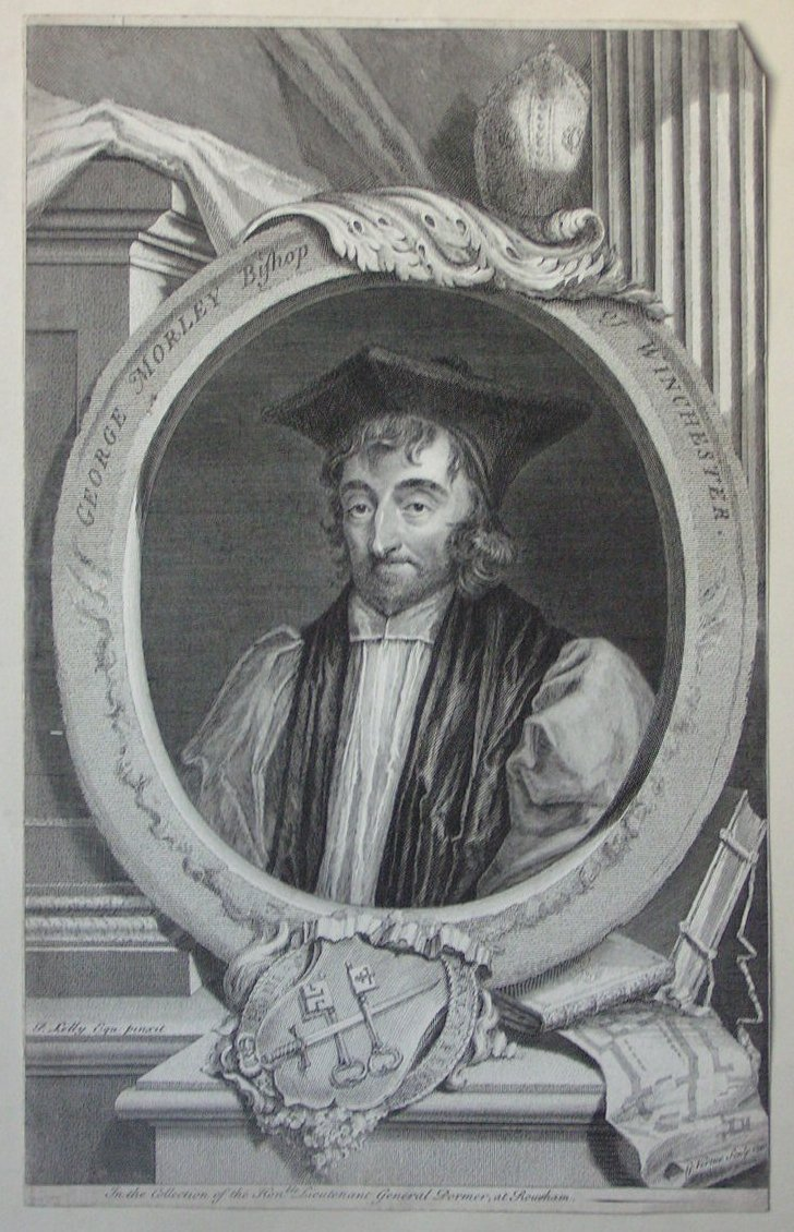 Print - George Morley Bishop of Winchester - Vertue