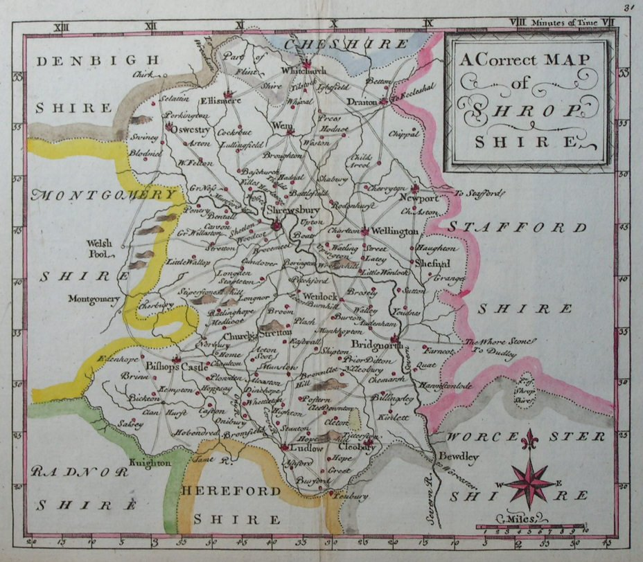 Map of Shropshire - Osborne
