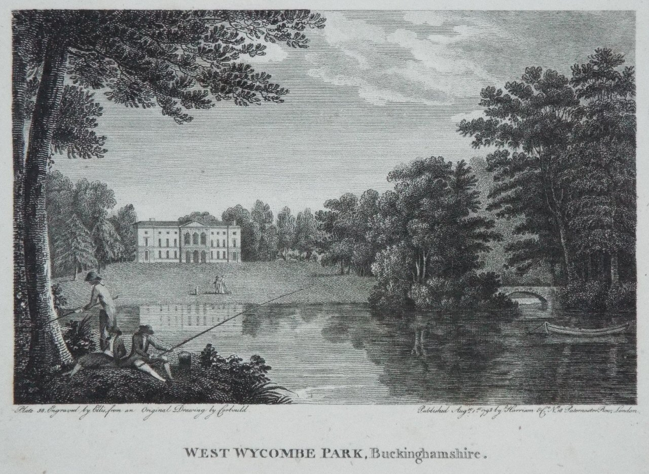 Print - West Wycombe Park, Buckinghamshire. -