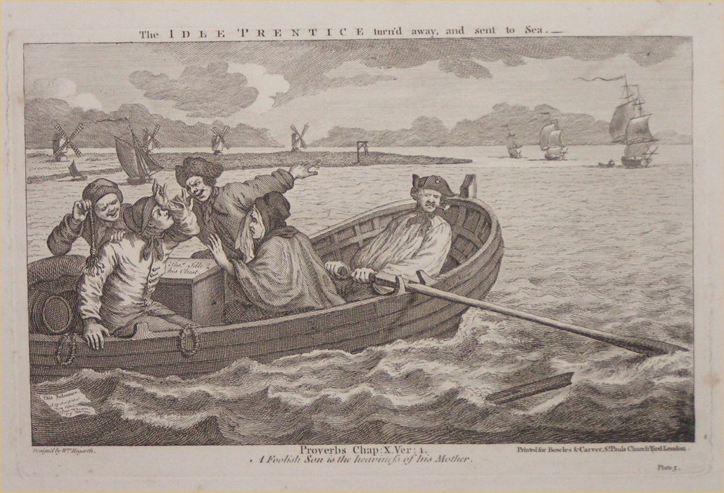 Print - 5. The Idle Prentice turn'd away, and sent to Sea