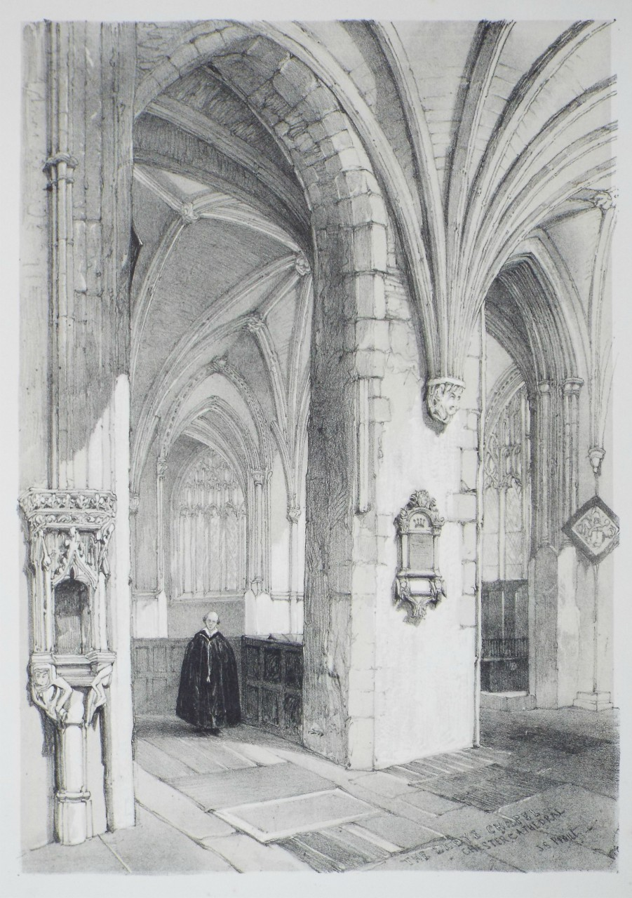 Lithograph - The Ladye Chapel Chester Cathedral - Prout