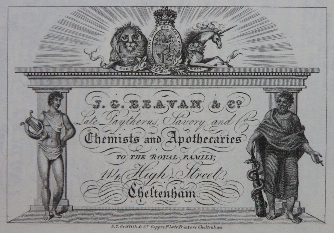 Print - J.G. Beavan & Co Late Daytherus Savory and Co Chemists and Apothecaries