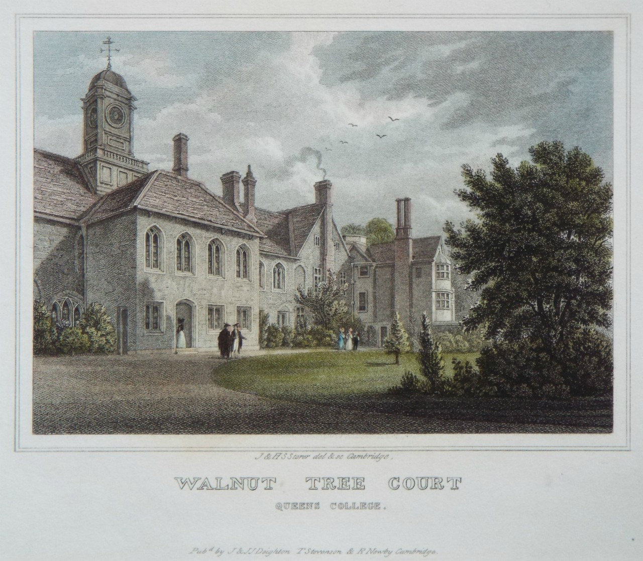 Print - Walnut Tree Court Queens College. - Storer