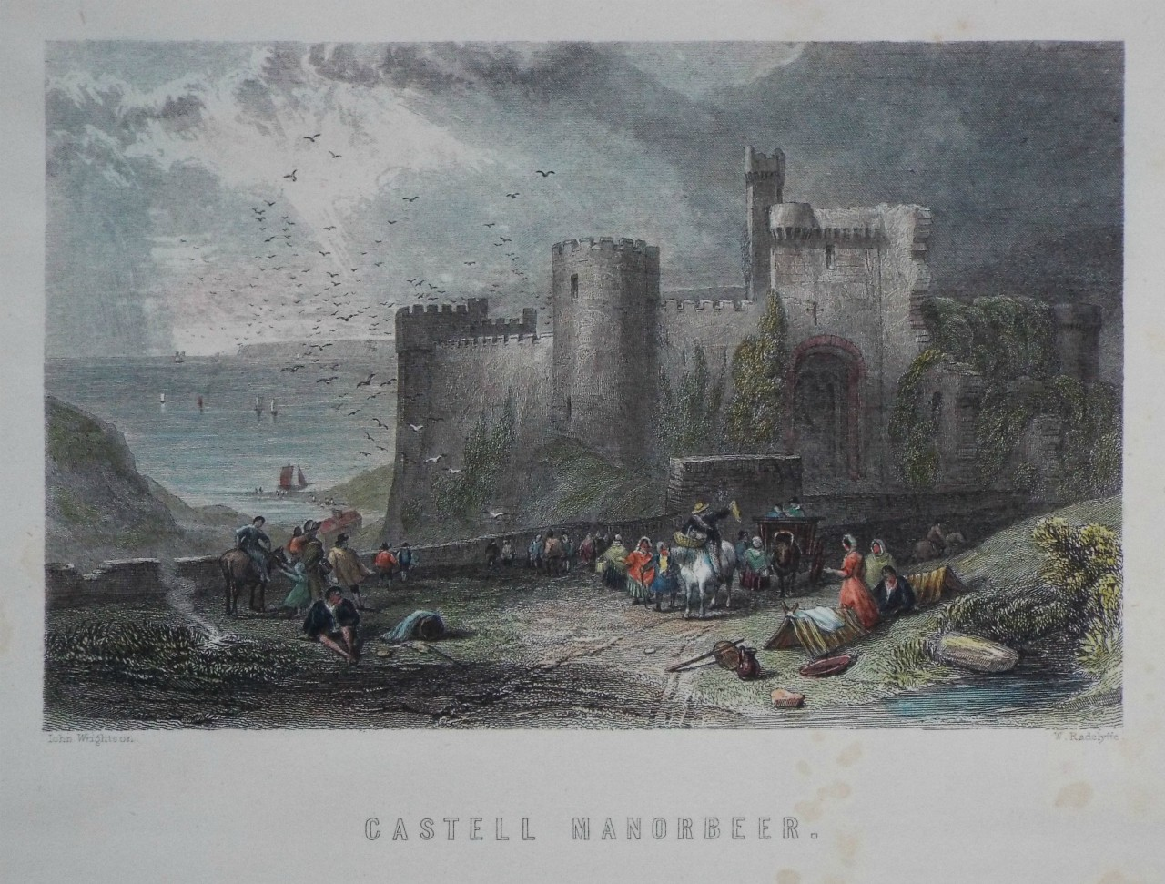 Print - Castell Manorbeer. - Radclyffe