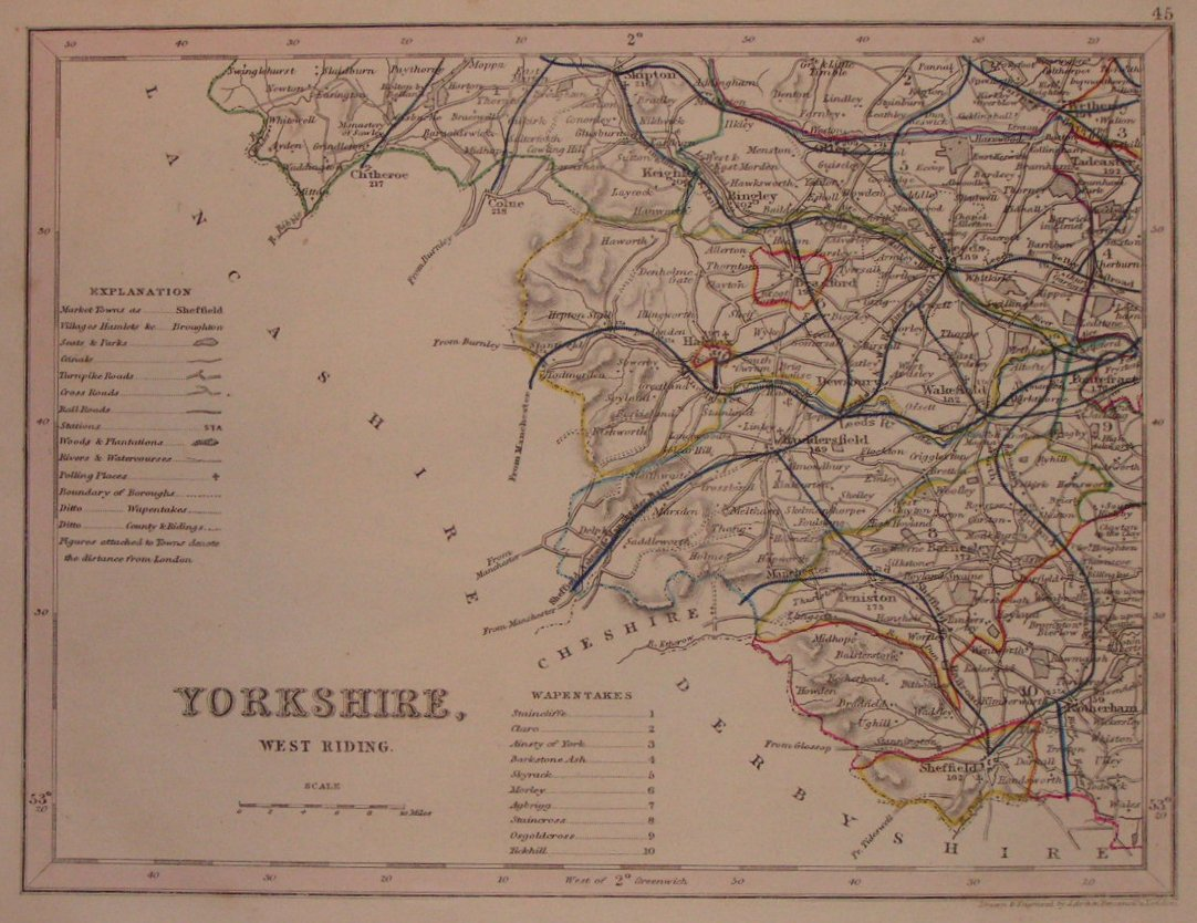 Map of Yorkshire - Archer