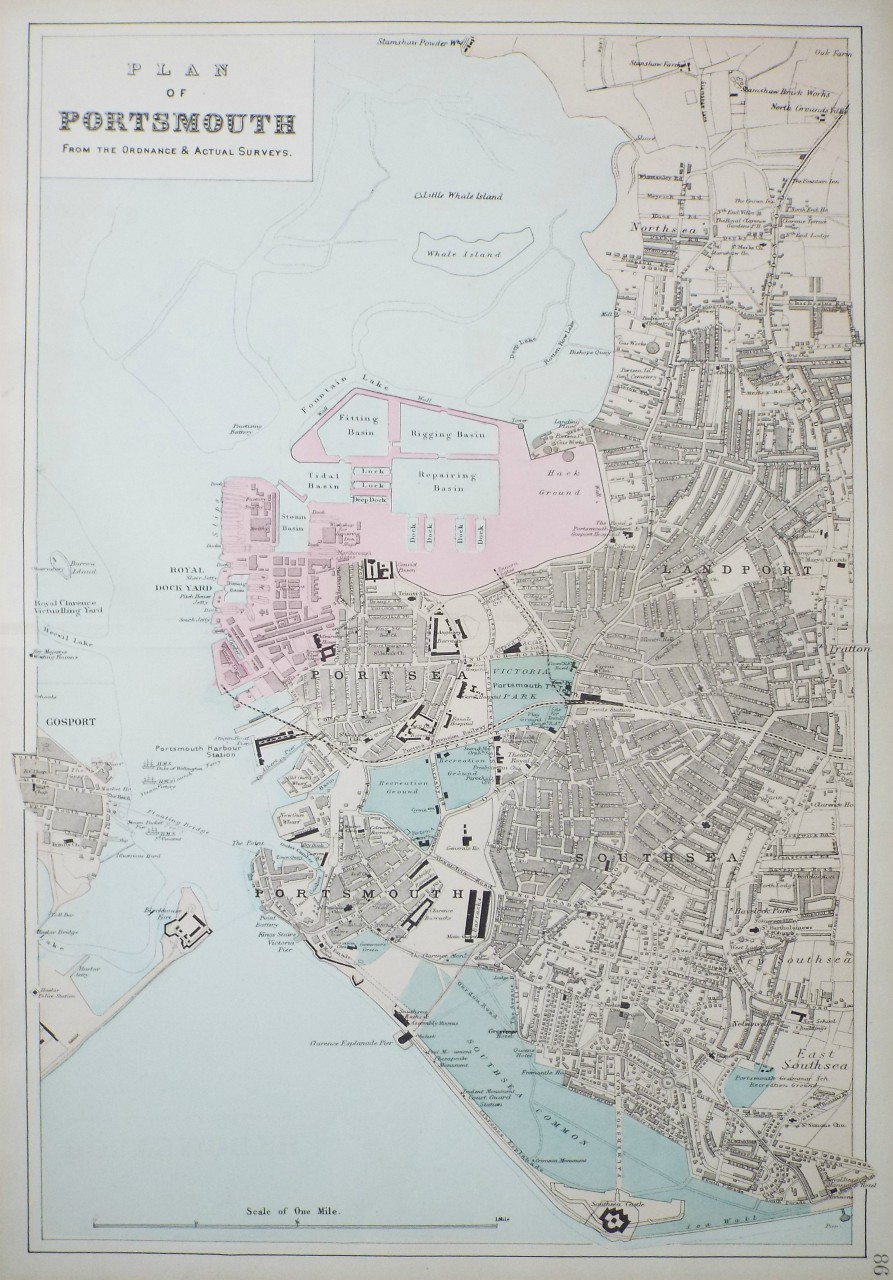 Map of Portsmouth - Portsmouth