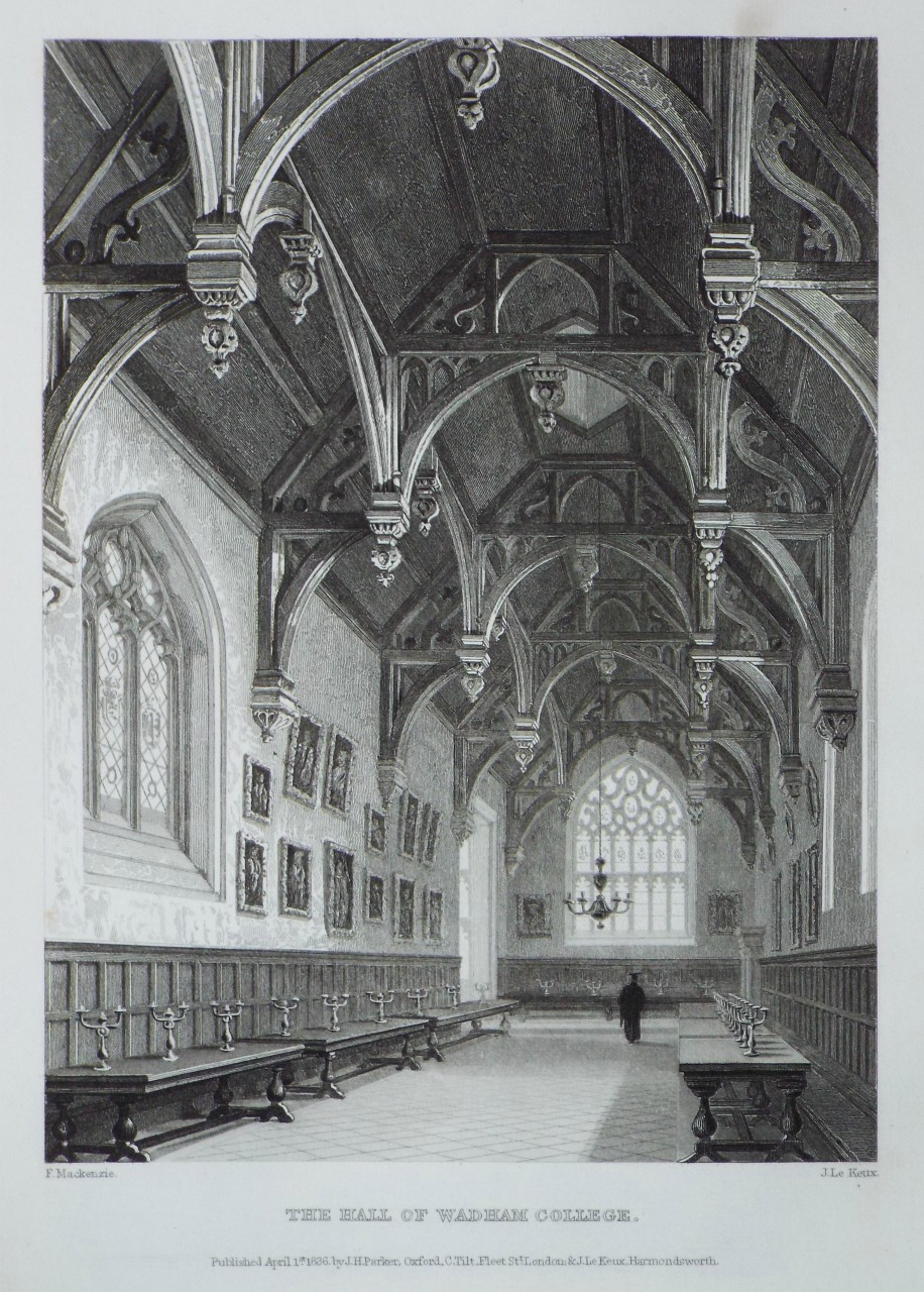 Print - The Hall of Wadham College. - Le