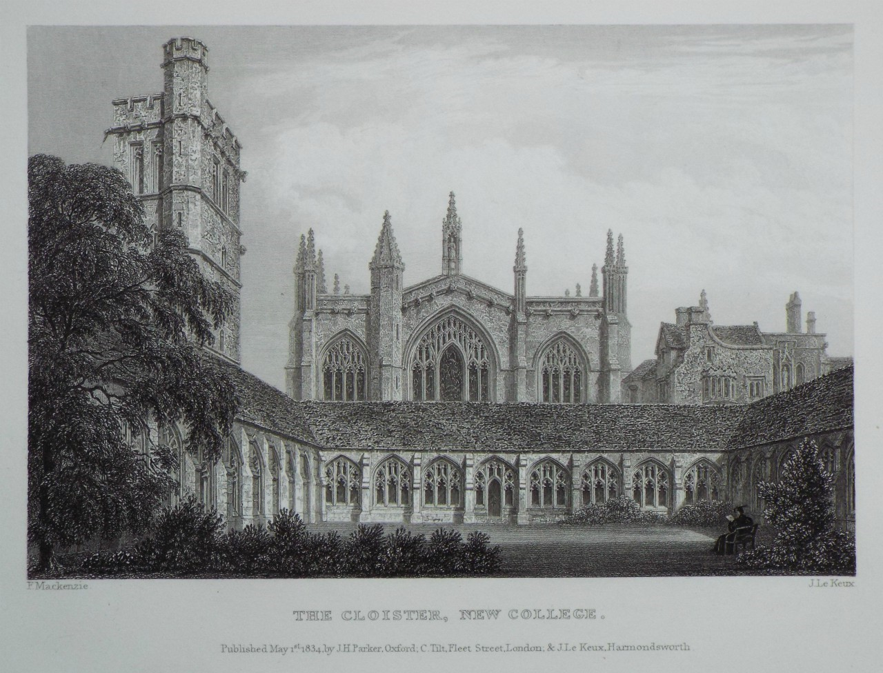 Print - The Cloister, New College. - Le