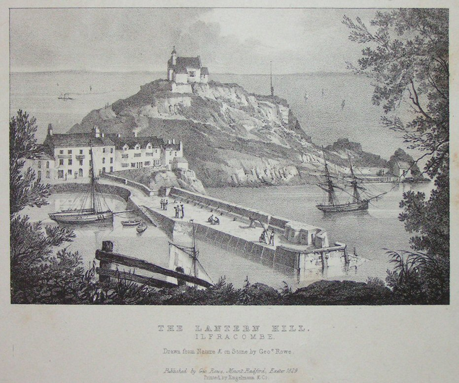 Lithograph - The Lantern Hill, Ilfracombe. - Rowe