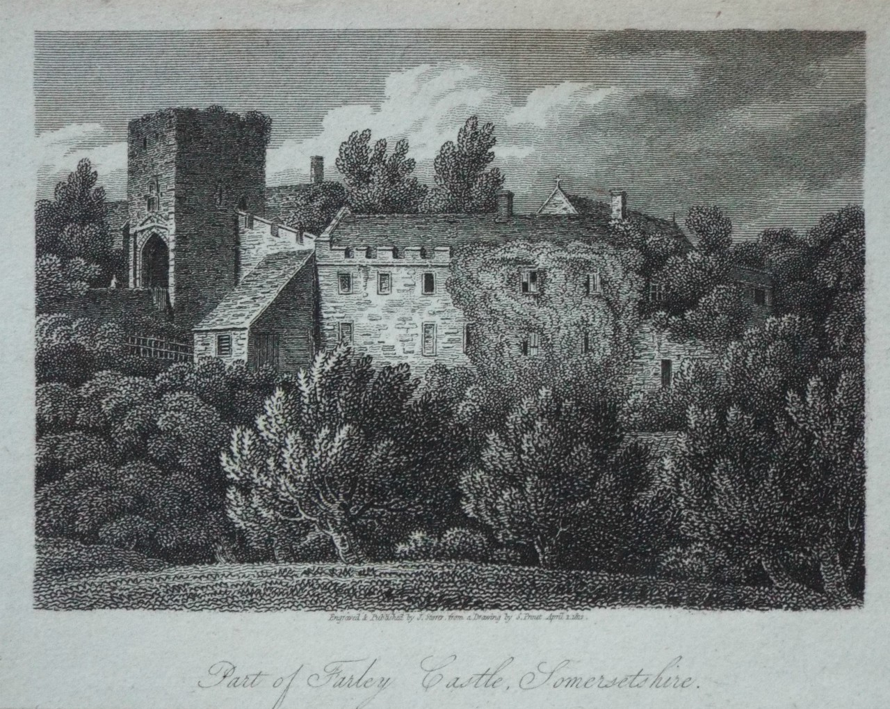 Print - Part of Farley Castle, Somersetshire.