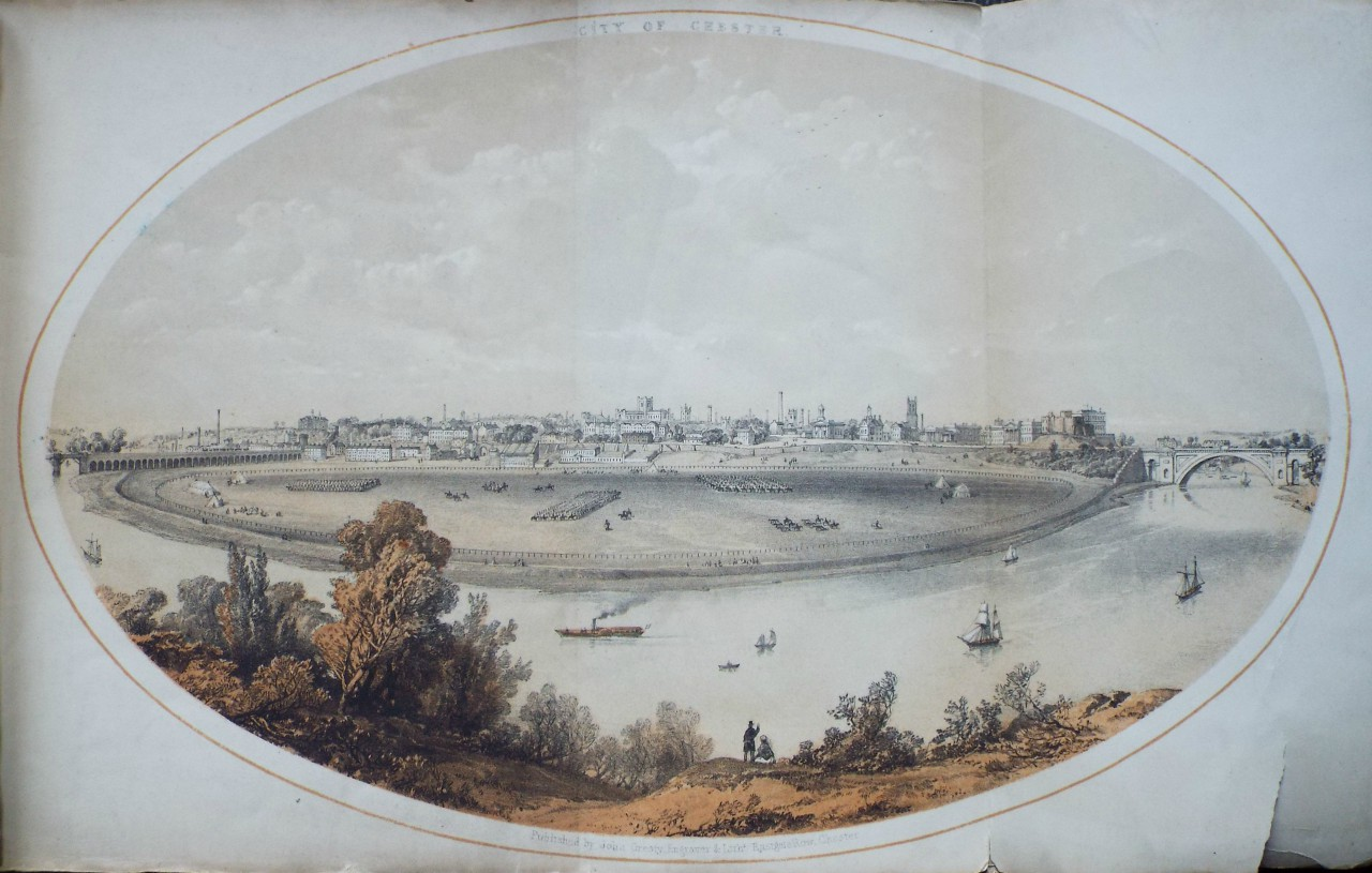Lithograph - City of Chester. - Gresty
