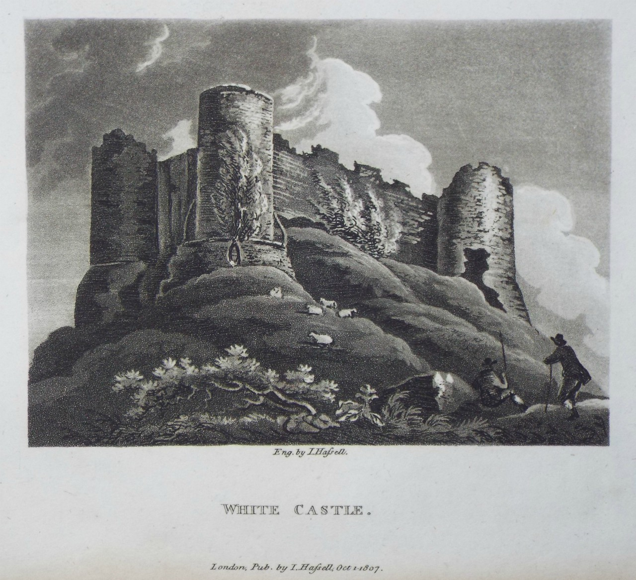 Aquatint - White Castle. - Hassell