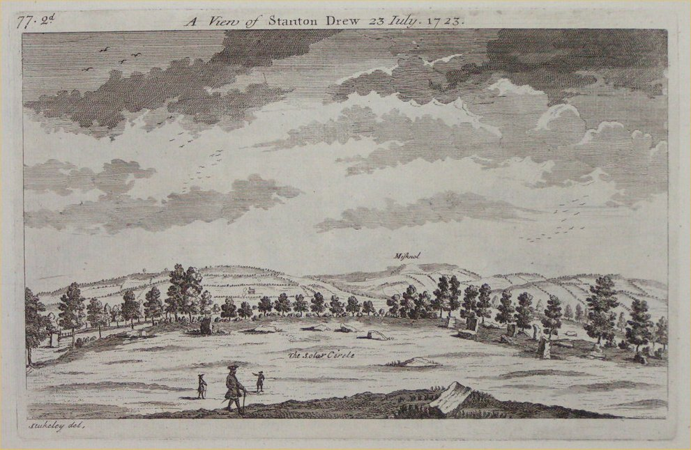 Print - A View of Stanton Drew 23 July 1723