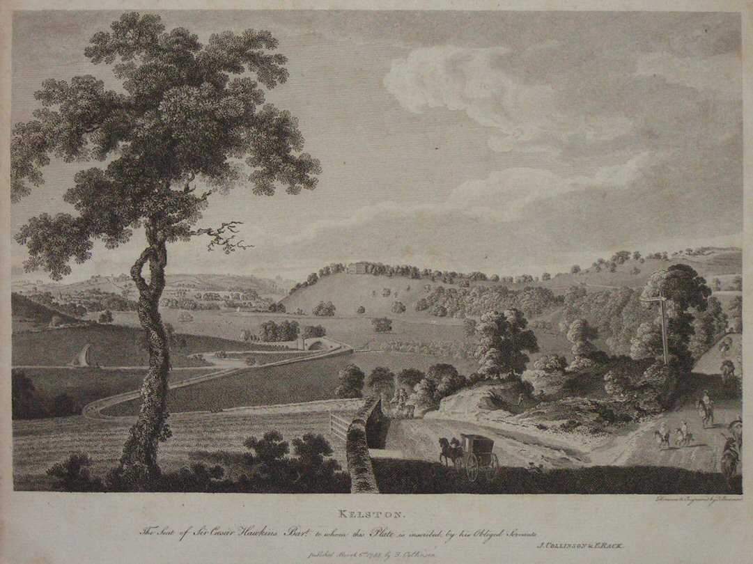 Print - Kelston. The Seat of Sir Caesar Hawkins Bart. - Bonnor