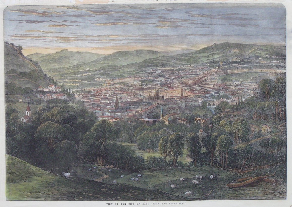 Wood - View of the City of Bath from the South-East
