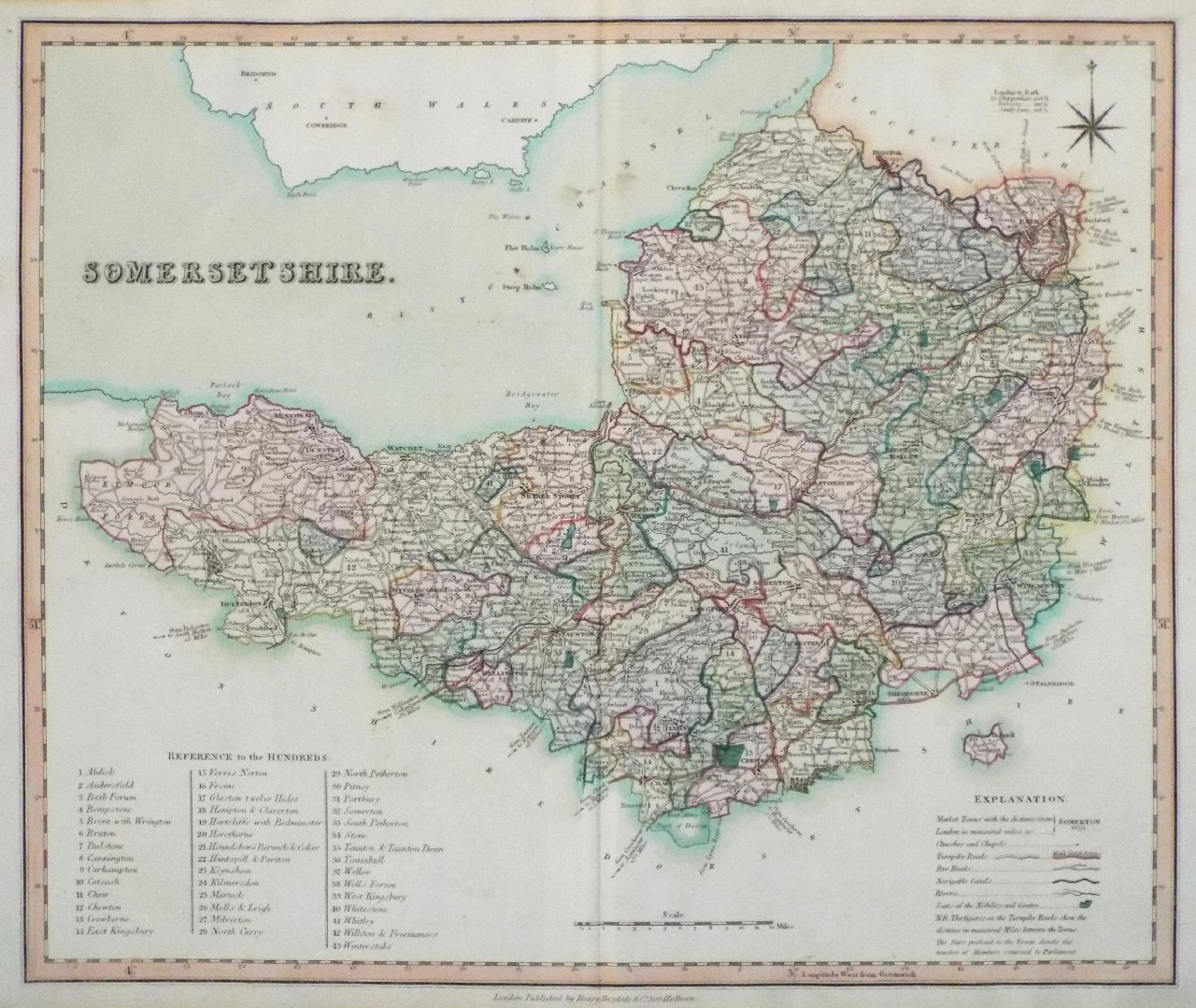 Map of Somerset - Teesdale