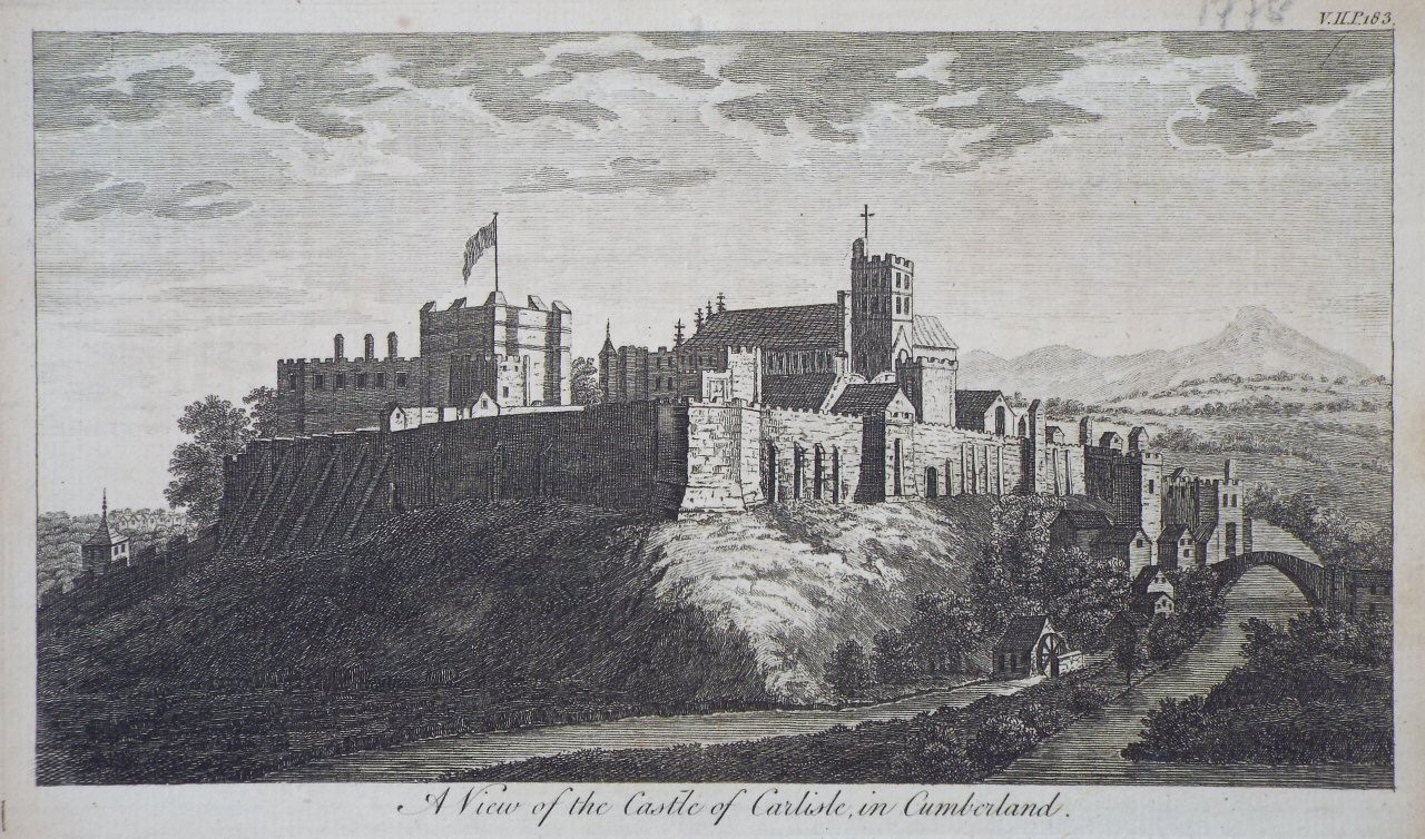 Print - A View of the Castle of Carlisle, in Cumberland.