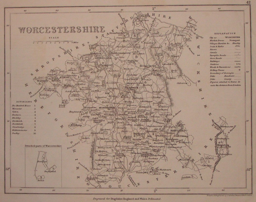 Map of Worcestershire - Archer