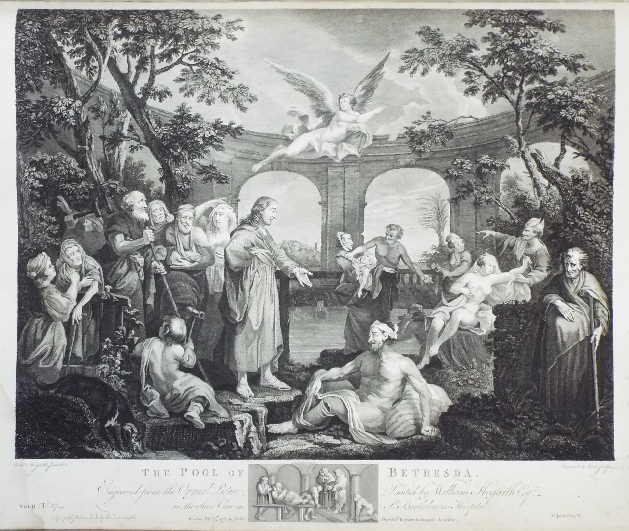 Print - The Pool of Bethesda - Hogarth