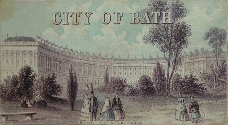 Chromo-lithograph - Royal Crescent - Bath. - T