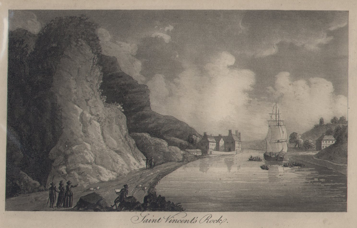 Aquatint - Saint Vincent's Rock - Robertson