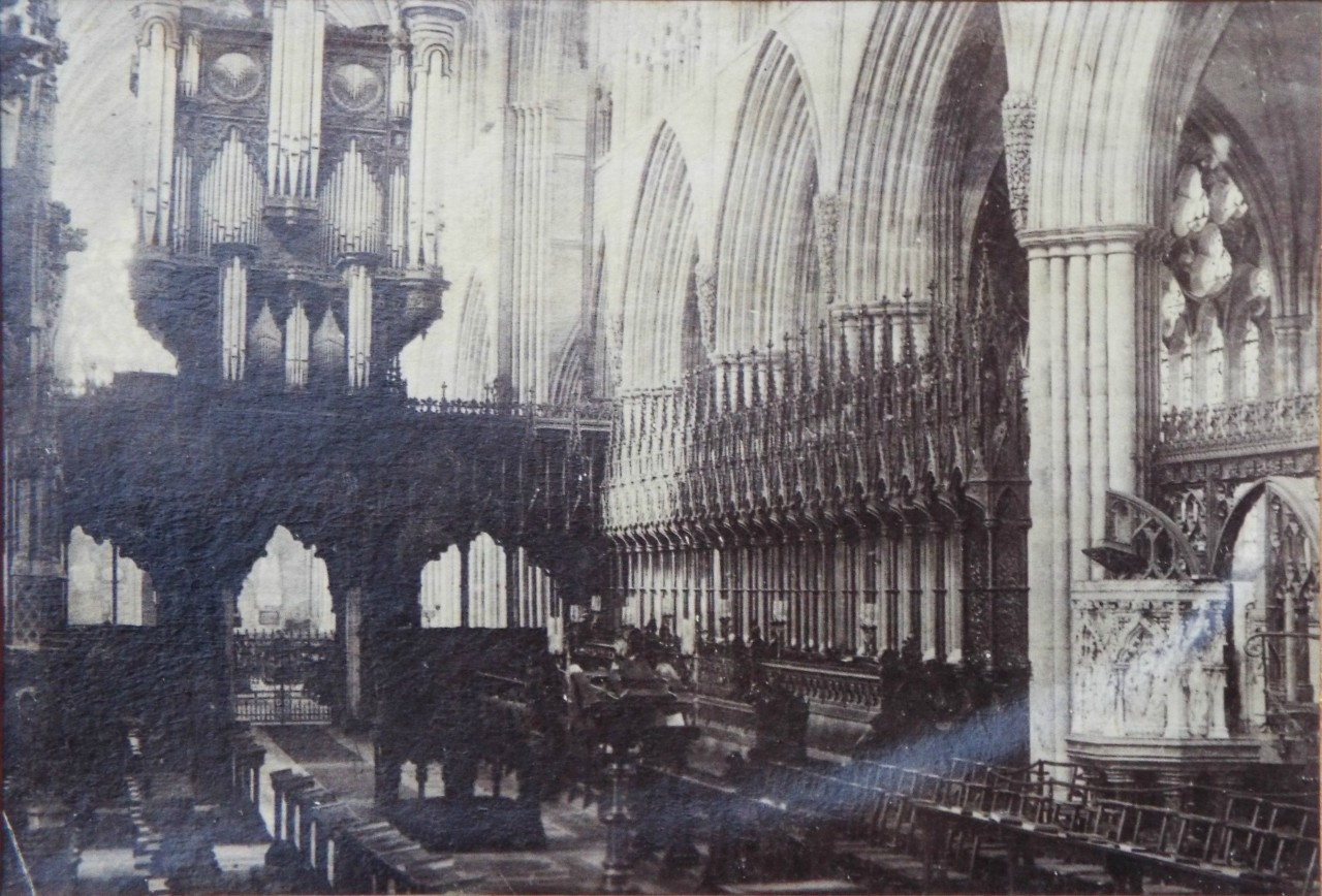 Pholograph - Exeter Cathedral interior view of choir