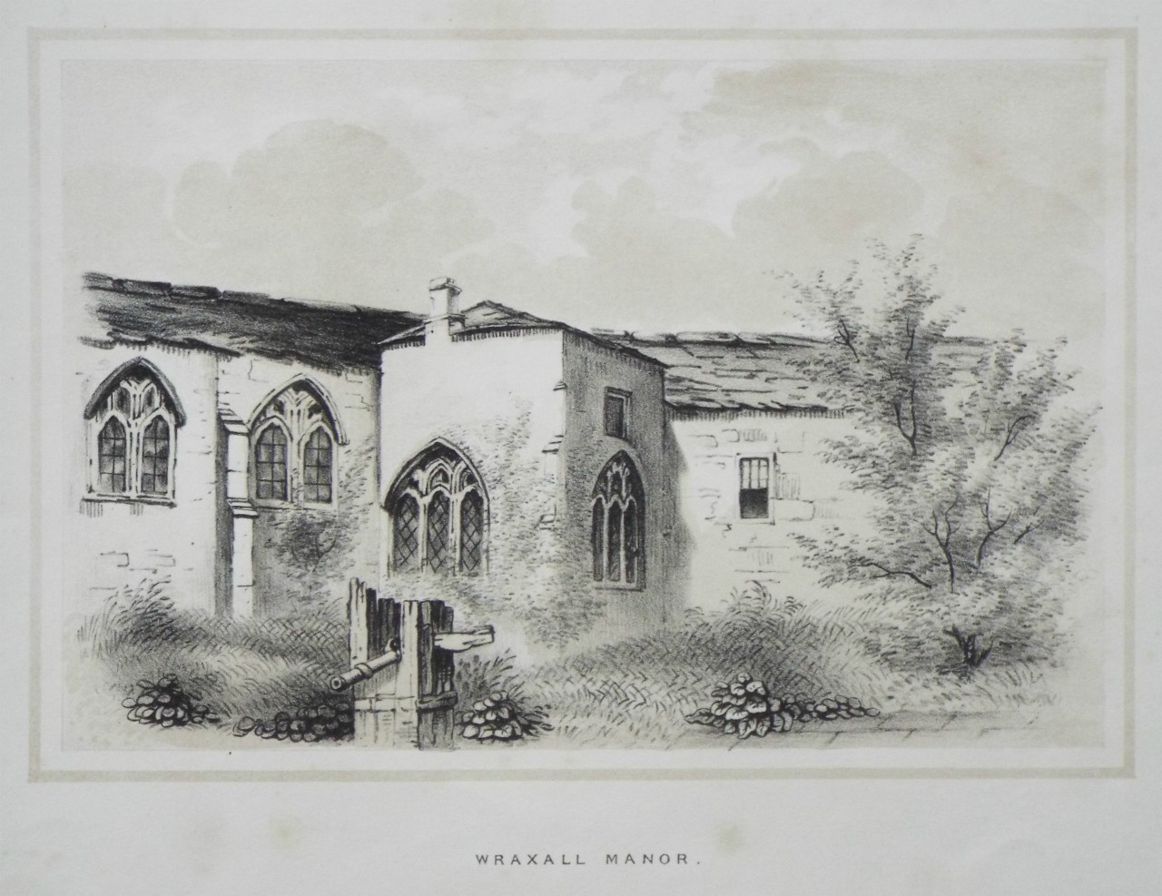 Lithograph - Wraxhall Manor
