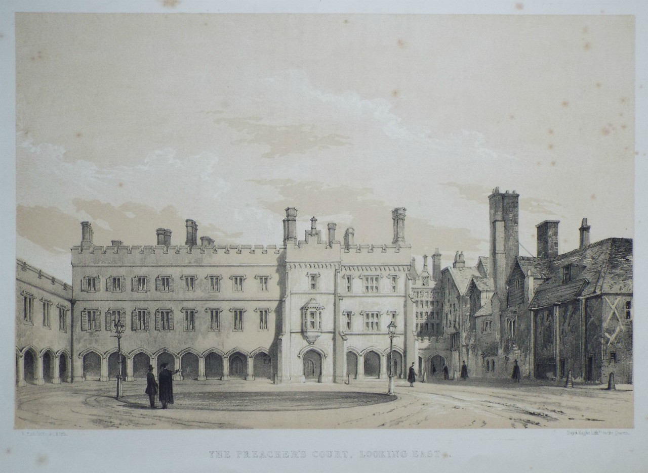 Lithograph - The Preacher's Court, Looking East. - Radclyffe