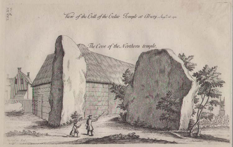 Print - View of the Cell of the Celtic Temple at Abury Aug 16 1721