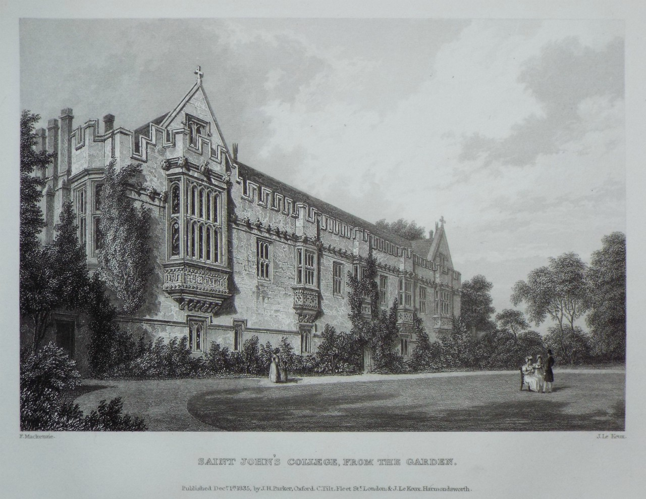 Print - Saint John's College, from the Garden. - Le