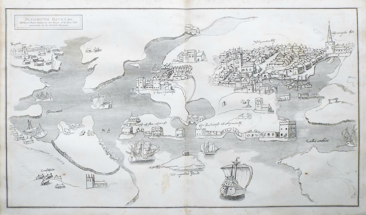 Map of Plymouth - Lysons