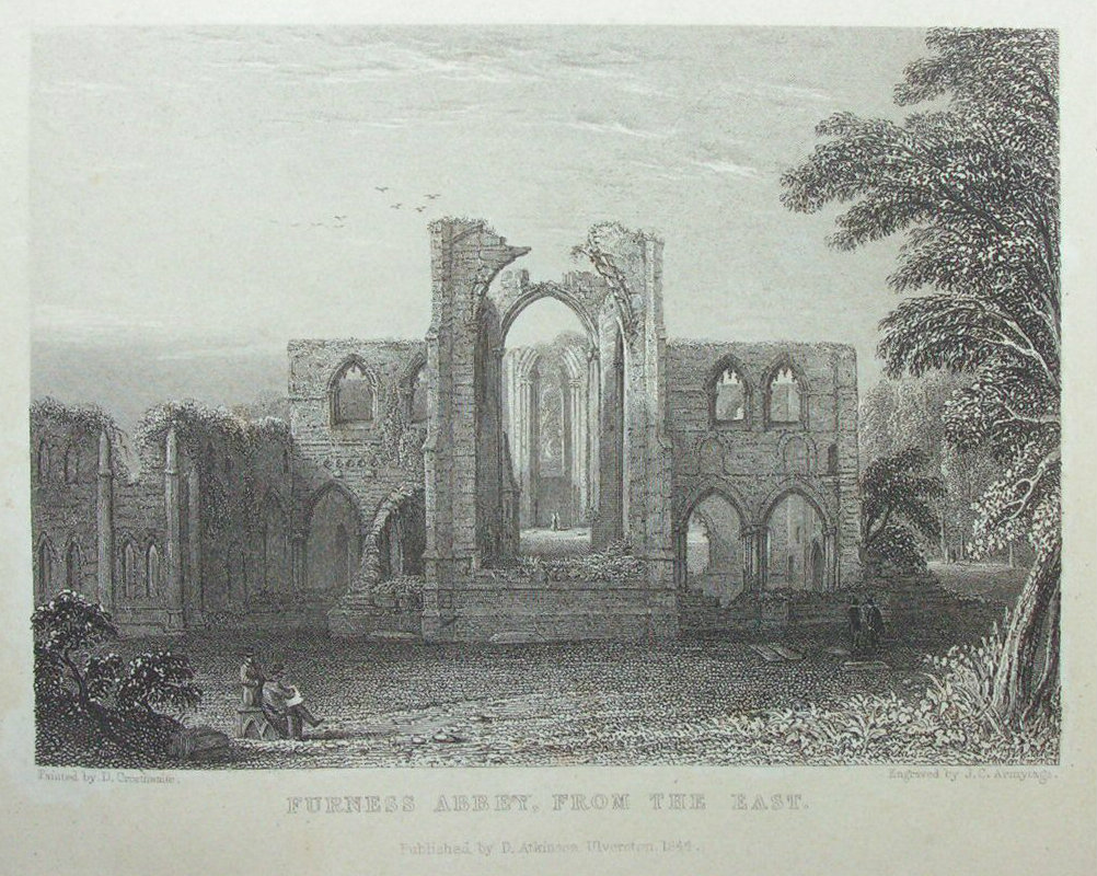 Print - Furness Abbey, from the East - Armytage