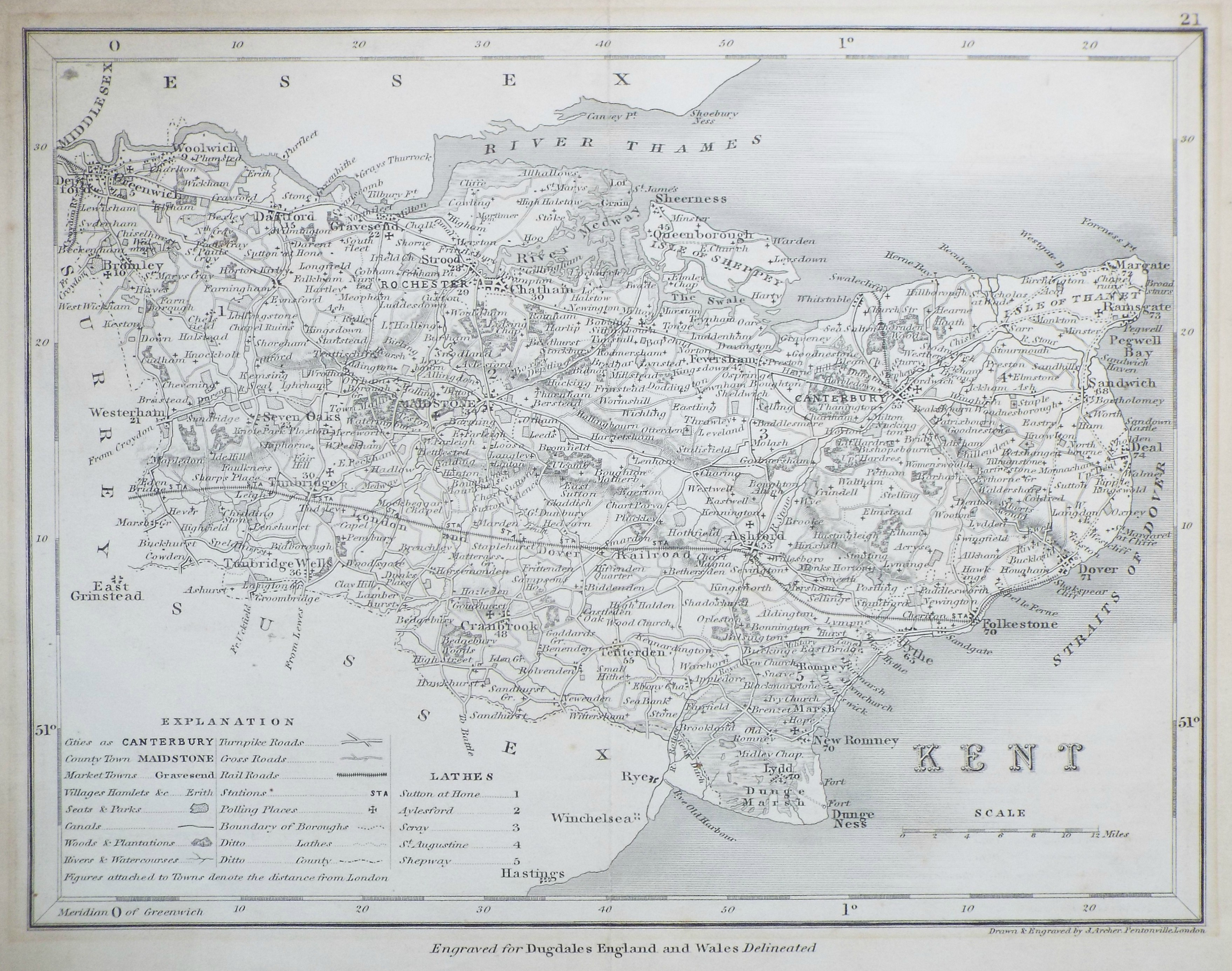 Map of Kent - Archer